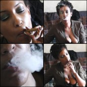 Lady Flawless Smoking a Cigar & Coughing