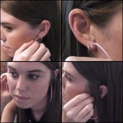 Kristen Playing with her Earrings