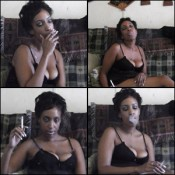 Lady Flawless Smoking in Lingerie