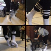 Pepper Cleaning in Knee High Socks
