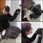 Paige Erin Turner Picking a Lock in Leather Gloves