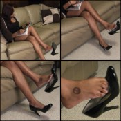 Alex Rayne Dangling Black Patent Pumps