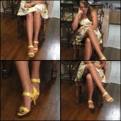 Dirty Diana in Yellow High Heel Sandals