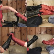 Damara & Tiffany Showing off Leather Gloves